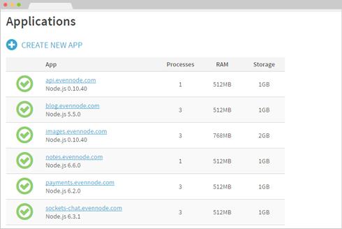 EvenNode - Node js and Python web hosting